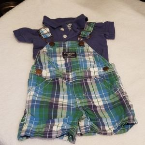 Short Overalls and Polo set